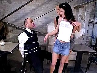 Hot Lesbian teasing